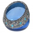 Sapphire Blue Votive with Beads