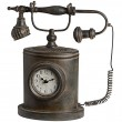 Telephone Clock, Antique Brown