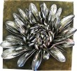 Silver Chrysanthemum Wall Plaque