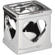 7.5cm Silver Ceramic Heart Candle Holder