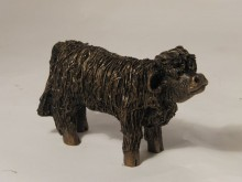 "Highland Bull Calf Frith VB024  This charming creature is already showing the independence of this breed. 10cm (4"") tall"