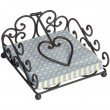 Antique Brown Heart Pattern Napkin Holder