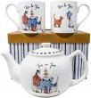Sam Toft Tea for Two Gift Set White