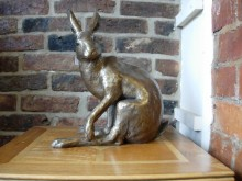 "Heathcliff - The Yorkshire Hare! A stunning new sculpture from Paul Jenkins which joins our Hare collection. 34cm (13.5"") tall. We have called him the Yorkshire hare as we have seen many like him there but please refer to him by your favourite County!"