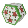 Box of 7 Poinsettier Baubles